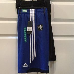 NEW! Two pack of boys Adidas shorts.